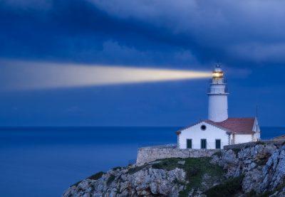 lighthouse lighting the way